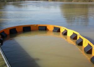 Barrage Saone flottant anti-pollution 1