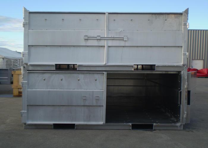 Container de stockage en alu